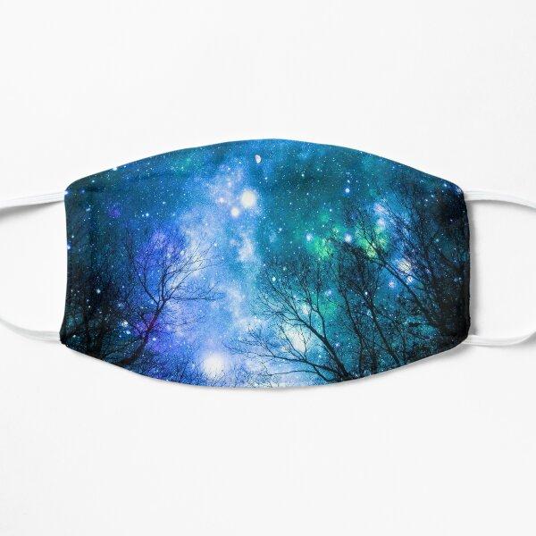 Black Trees Blue Teal Space Flat Mask