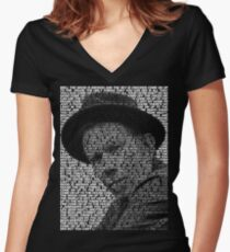 Tom Waits - Come on up to the house Women's Fitted V-Neck T-Shirt