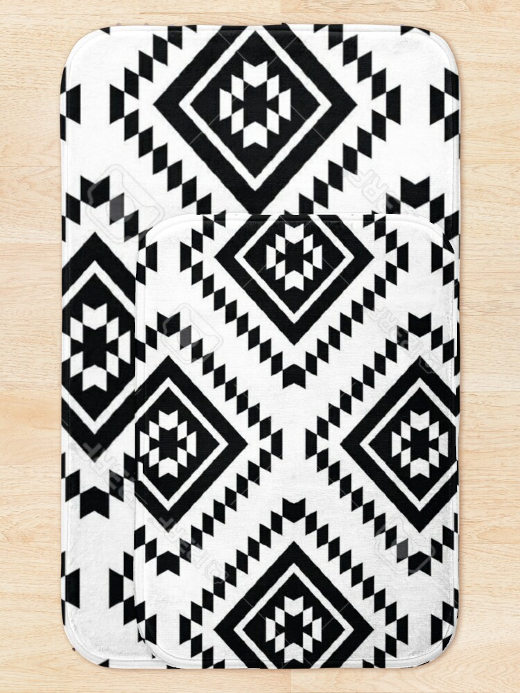 Alternate view of Ancient Aztec #3 Design Bath Mat