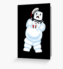 Scared Mr. Stay Puft. Greeting Card