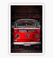 Volkswagen combi Red Sticker