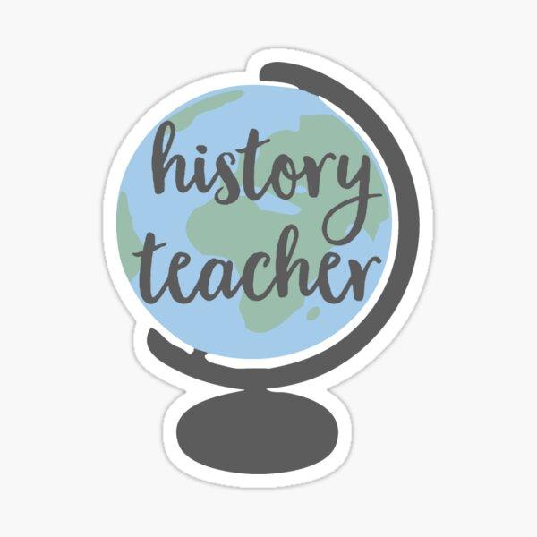 history teacher globe Sticker