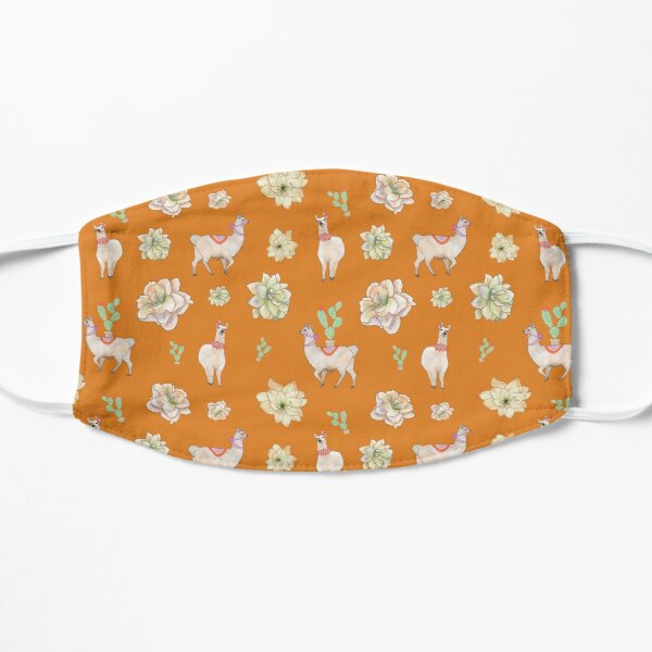 Summer Party Llama Floral  Mask