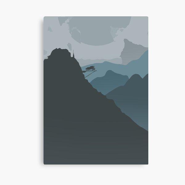 Sci-fi Mountain Canvas Print