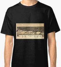Panoramic Maps A bird's eye view of the city of Ashland Wis county seat of Ashland County 1886 Classic T-Shirt