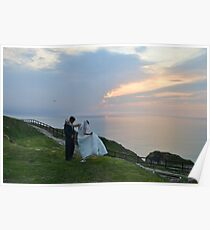 A  Golden Moment At Perranporth, Cornwall Poster