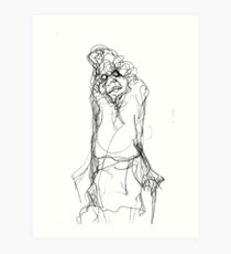 Old Lady with Stick Art Print
