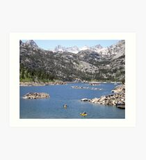 Enjoying The Lake Art Print