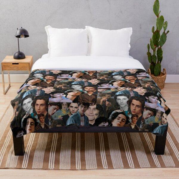 Timothee Chalamet Collage Design Throw Blanket