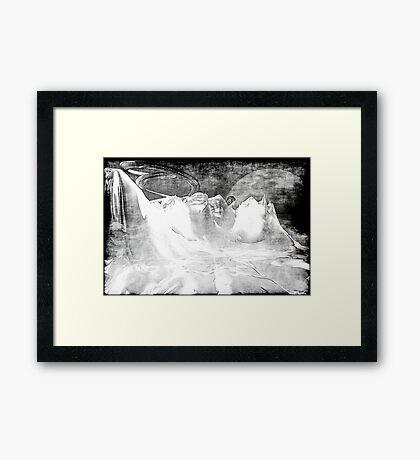 White World Framed Print