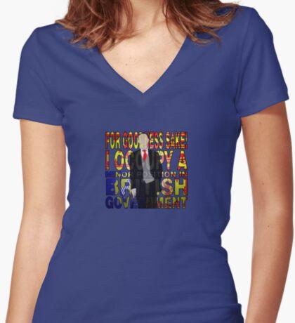 Mycroft Holmes Women's Fitted V-Neck T-Shirt