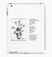 Wit madeliefieblare iPad Case/Skin
