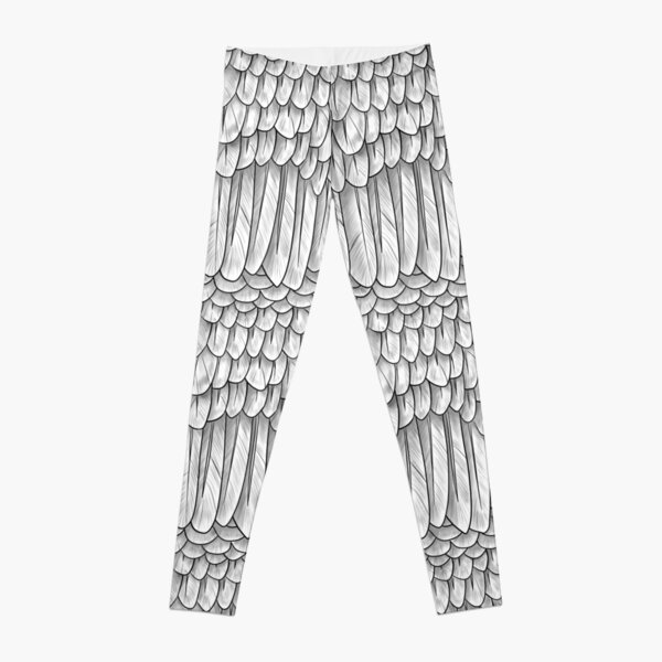 White Feather Mantle Leggings