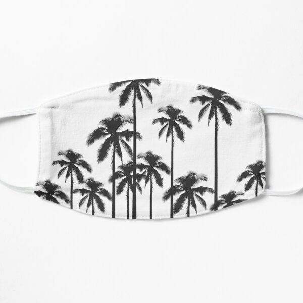 Black and White Exotic Tropical Palm Trees Mask