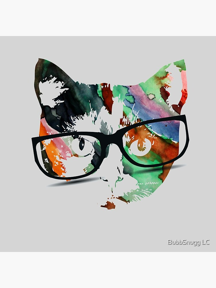 Hipster calico kitty cat by Boogiemonst
