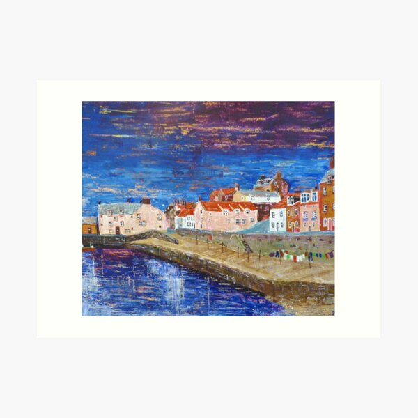 Cellardyke Harbour, Fife Art Print