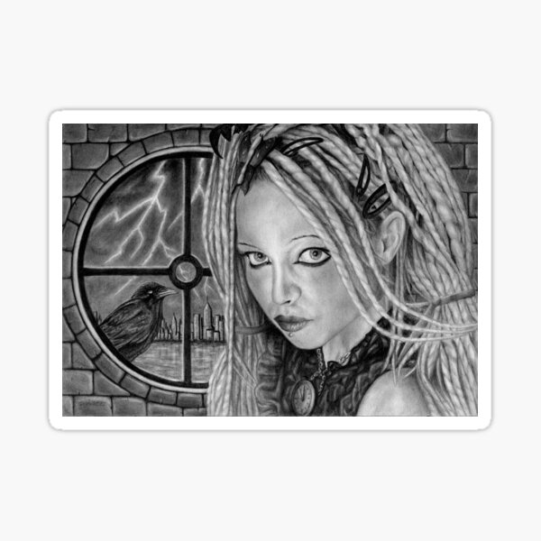 Stormbringer: Original drawing by Dean Sidwell Sticker
