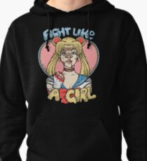 Sailor Moon- Fight Like a Girl Pullover Hoodie