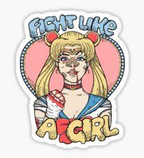 Sailor Moon- Fight Like a Girl Sticker