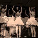 Ballerinas in the window by Wendy Mogul