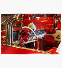 1957 Chevrolet Beauty In Red Poster