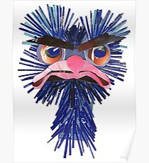 very angry ostrich Poster