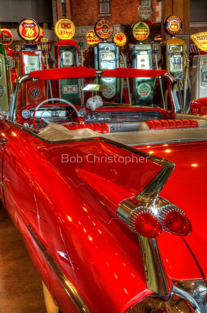 1959 Cadillac At The Pumps by Bob Christopher