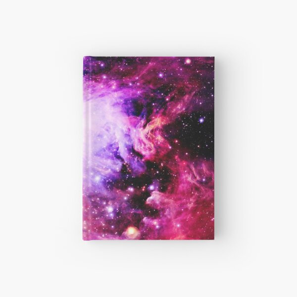 Galaxy Orion Nebula Pink Purple Nebula Hardcover Journal
