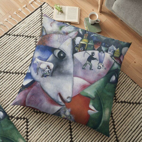 Marc Chagall - I and the Village  Floor Pillow