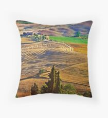 Val d' Orcia Throw Pillow
