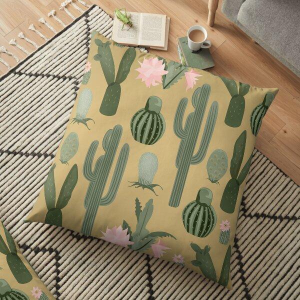 Botanical Cactus Floor Pillow
