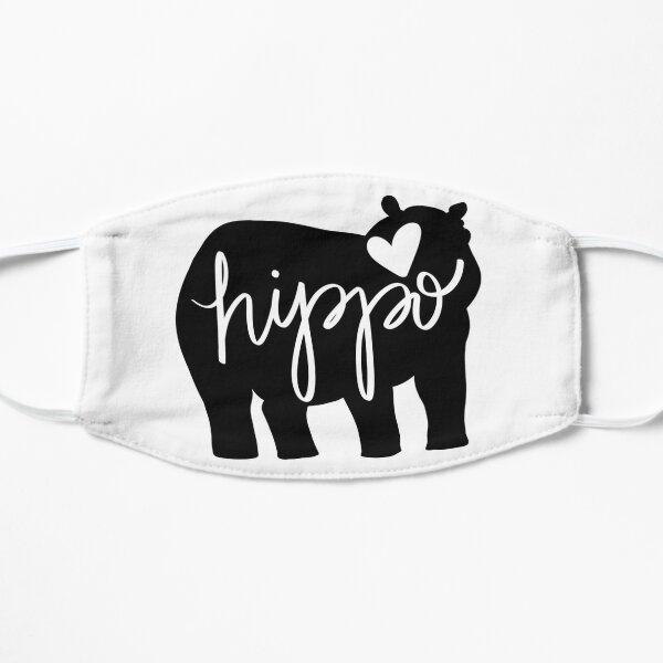 Hippo Love - Silhouette Flat Mask