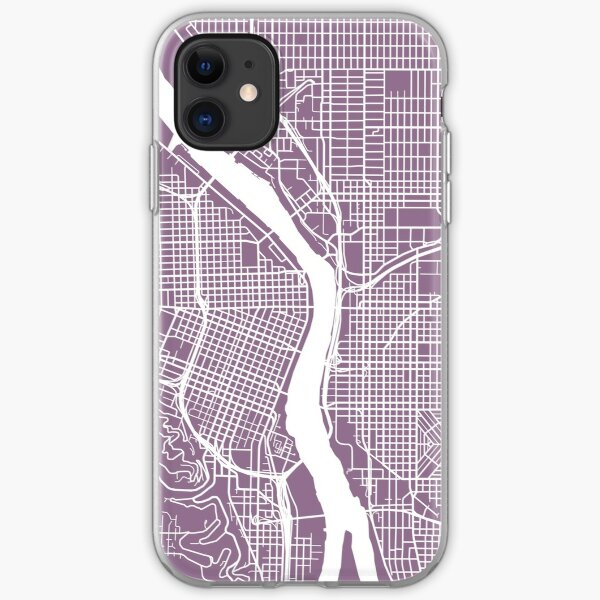 Portland, Oregon Kartenkunst iPhone Flexible Hülle