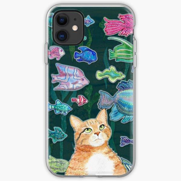 Dreamy cat iPhone Soft Case