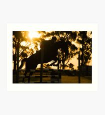 Jumping for Gold Art Print