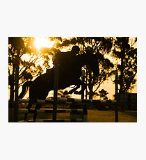 Jumping for Gold Photographic Print