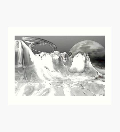 White World (not grungy) Art Print