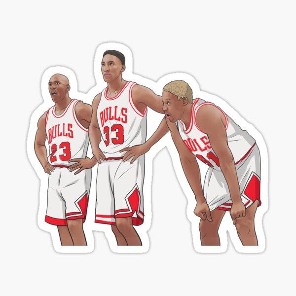 Jordan - Pippen - Rodman Sticker