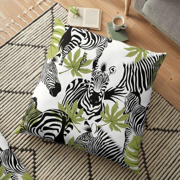 Tropical Zebra Floor Pillow