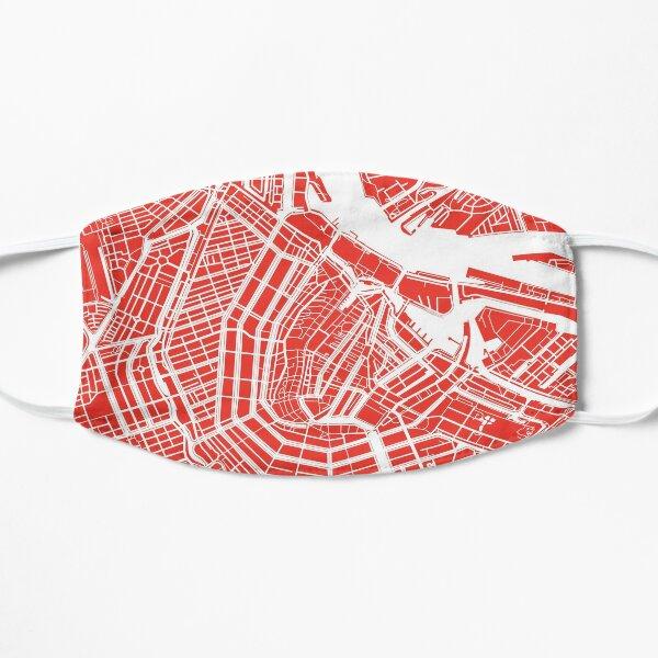 Amsterdam, Netherlands Map Art Mask
