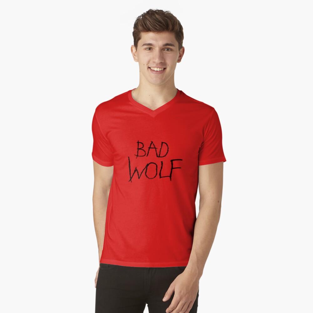 Bad Wolf Mens V-Neck T-Shirt Front