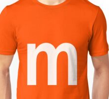 m white  Unisex T-Shirt