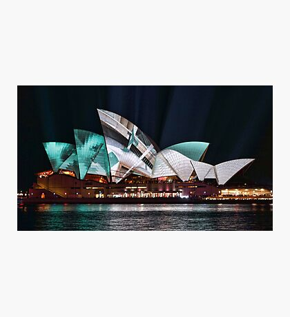 Opera House in Green - Vivid Sydney 2012 Photographic Print