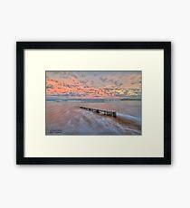 Ocean Grove Beach HDR Framed Print