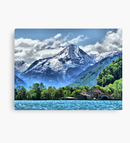 Lake Lucerne. Canvas Print