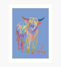 Scottish Highlander Cow Art Print