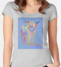 Scottish Highlander Cow Women's Fitted Scoop T-Shirt
