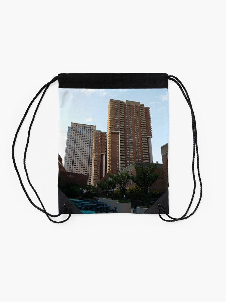 Alternate view of New York, Manhattan, #New York, #Manhattan Drawstring Bag