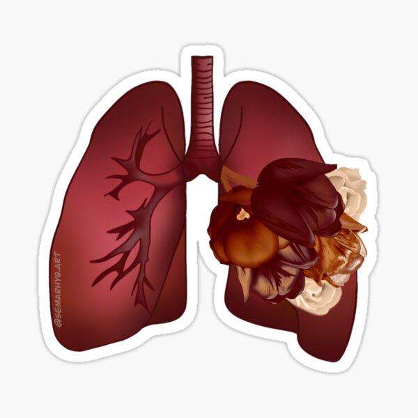 Floral Lungs Sticker