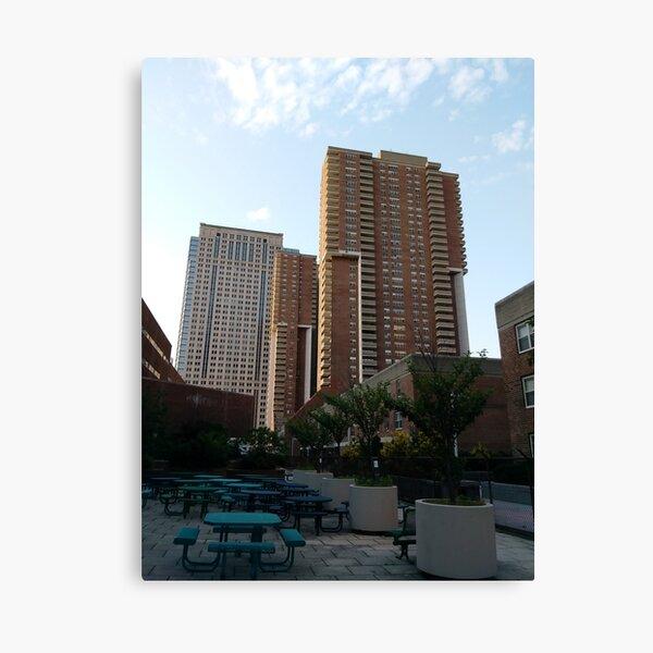 Tower Block, High-rise building, New York, Manhattan, Downtown  Canvas Print
